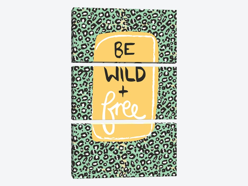 Be Wild And Free by Vicky Yorke 3-piece Canvas Artwork