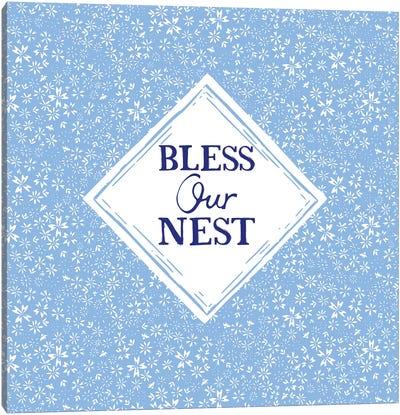 Bless Our Nest (Blue) Canvas Art Print