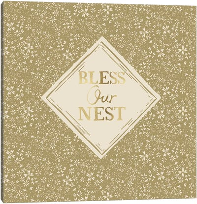 Bless Our Nest (Green) Canvas Art Print
