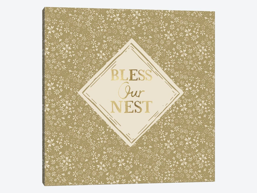 Bless Our Nest (Green) by Vicky Yorke 1-piece Art Print
