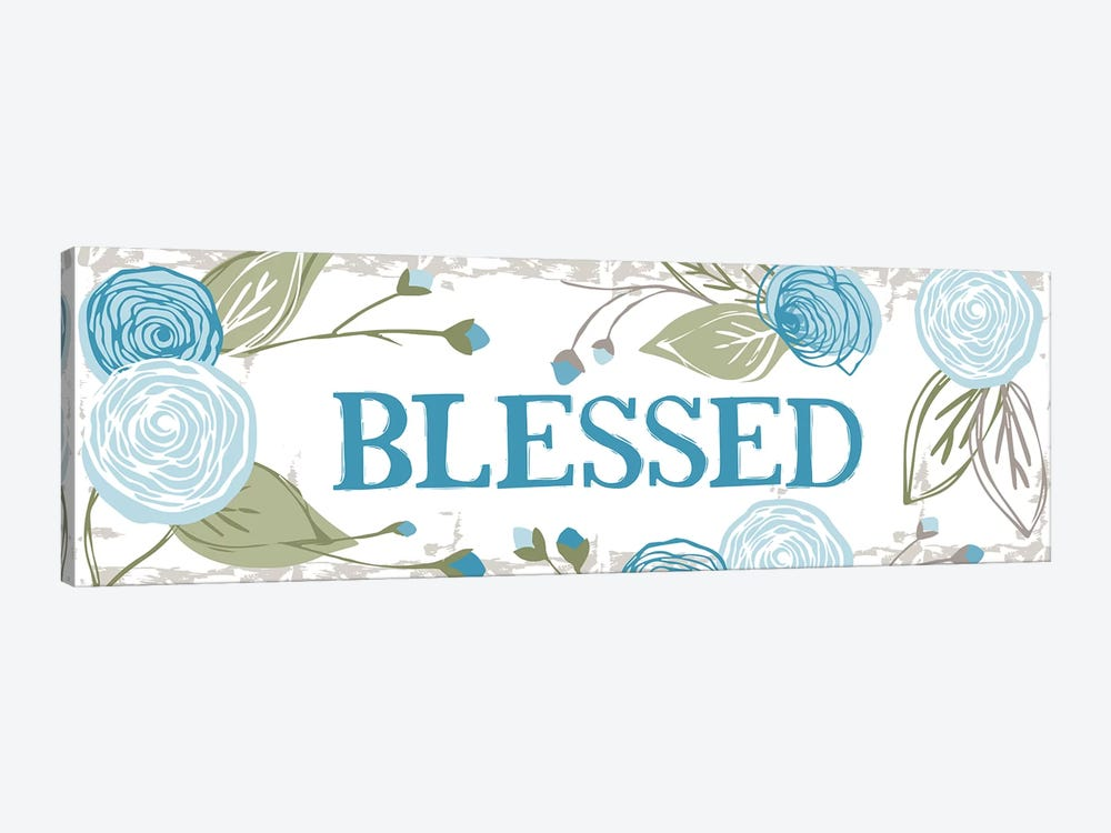 Blessed (Roses) by Vicky Yorke 1-piece Canvas Wall Art