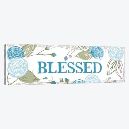 Blessed (Roses) Canvas Print #VYO17} by Vicky Yorke Art Print