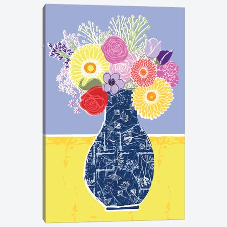 Full Bluem Still Life I Canvas Print #VYO21} by Vicky Yorke Canvas Print