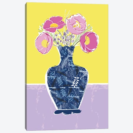 Full Bluem Still Life II Canvas Print #VYO22} by Vicky Yorke Art Print
