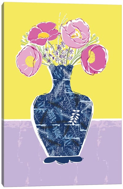 Full Bluem Still Life II Canvas Art Print