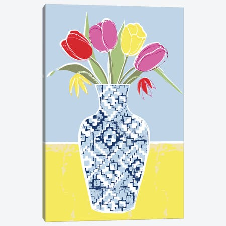 Full Bluem Still Life III Canvas Print #VYO23} by Vicky Yorke Canvas Art Print
