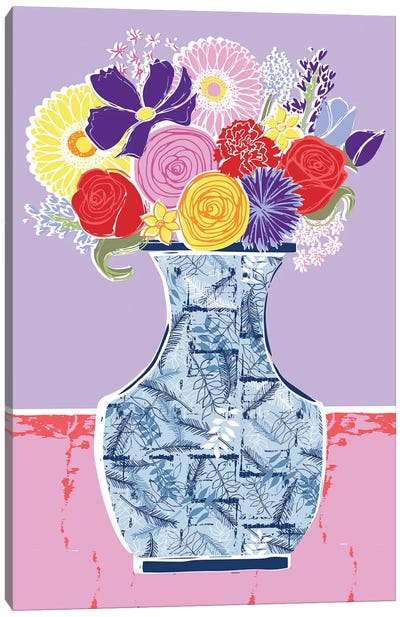 Full Bluem Still Life V Canvas Art Print