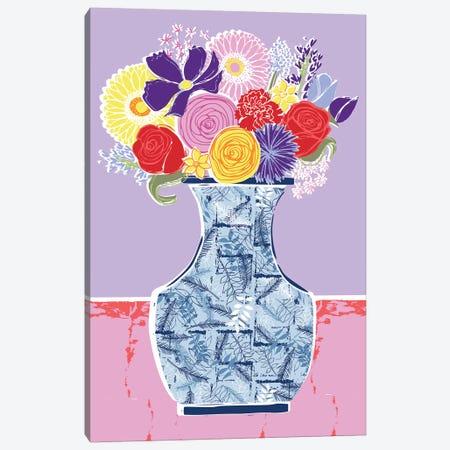 Full Bluem Still Life V Canvas Print #VYO25} by Vicky Yorke Canvas Wall Art