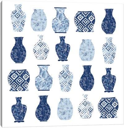 Full Bluem Vases Canvas Art Print