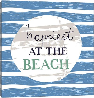 Happiest At The Beach Canvas Art Print