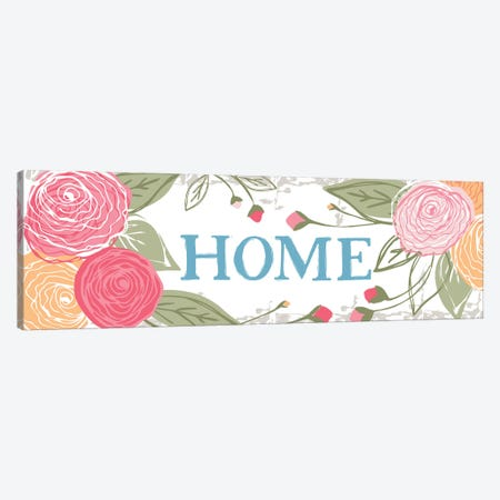 Home (Roses) Canvas Print #VYO31} by Vicky Yorke Canvas Artwork