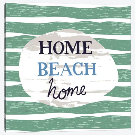 Home Beach Home 3-Piece Canvas #VYO32} by Vicky Yorke Canvas Wall Art