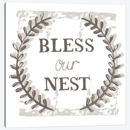 Home Farm - Bless our Nest Canvas Print #VYO33} by Vicky Yorke Canvas Wall Art
