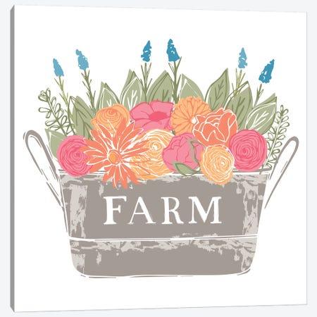Home Farm - Flowers Canvas Print #VYO37} by Vicky Yorke Art Print