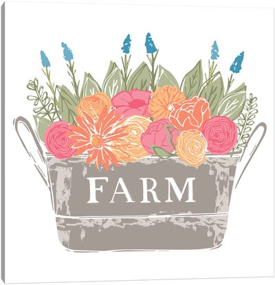 Home Farm - Flowers Canvas Art Print