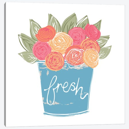 Home Farm - Fresh Canvas Print #VYO38} by Vicky Yorke Canvas Art