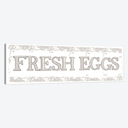 Home Farm - Fresh Eggs And Milk 3-Piece Canvas #VYO40} by Vicky Yorke Art Print