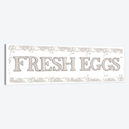Home Farm - Fresh Eggs And Milk Canvas Print #VYO40} by Vicky Yorke Art Print