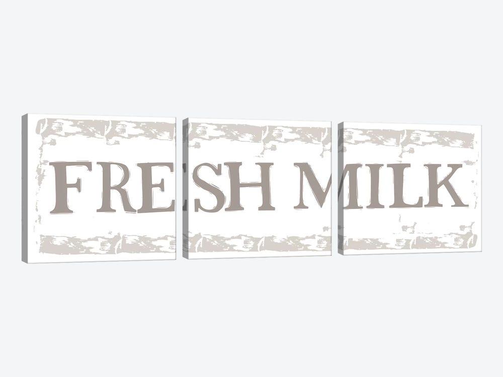 Home Farm - Fresh Milk by Vicky Yorke 3-piece Canvas Print