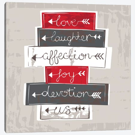 Love, Laughter, Affection  3-Piece Canvas #VYO58} by Vicky Yorke Canvas Art