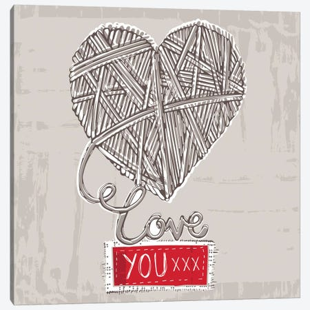 Naturally Yours - Love You xxx Canvas Print #VYO62} by Vicky Yorke Art Print