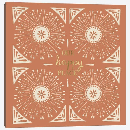Our Happy Place (Rust) Canvas Print #VYO65} by Vicky Yorke Canvas Artwork