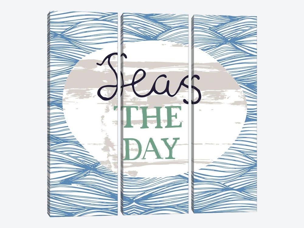 Seas The Day by Vicky Yorke 3-piece Art Print
