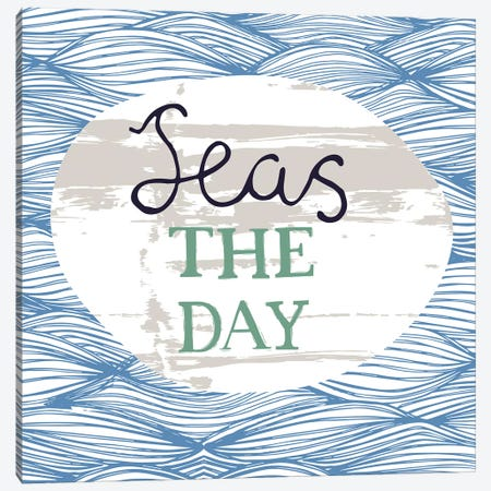 Seas The Day Canvas Print #VYO69} by Vicky Yorke Canvas Art Print