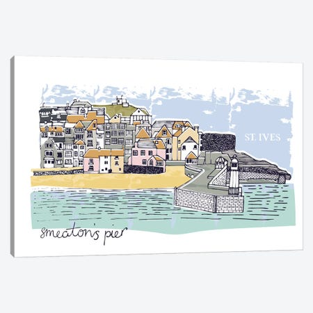 St. Ives - Smeaton's Pier Canvas Print #VYO71} by Vicky Yorke Canvas Wall Art