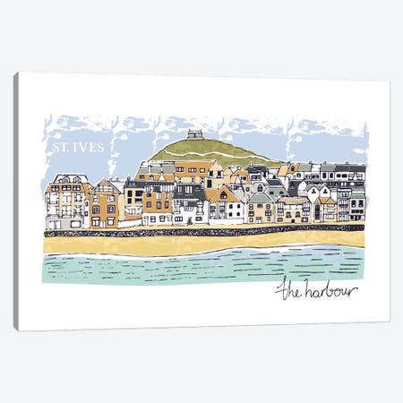 St.Ives - The Harbour Canvas Print #VYO72} by Vicky Yorke Canvas Wall Art