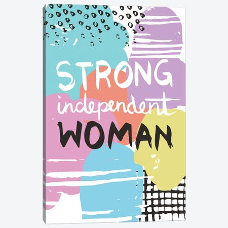 Strong Independent Woman Canvas Print #VYO74} by Vicky Yorke Art Print