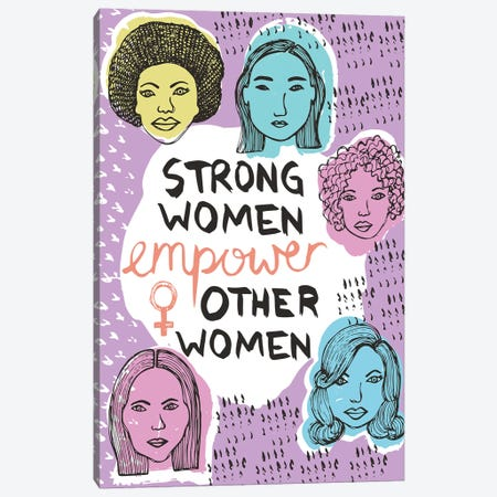 Strong Women Canvas Print #VYO75} by Vicky Yorke Art Print