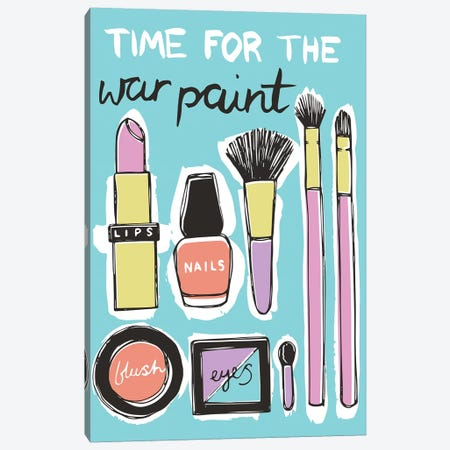 War Paint Canvas Print #VYO81} by Vicky Yorke Canvas Art Print