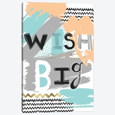 Wish Big  3-Piece Canvas #VYO86} by Vicky Yorke Canvas Art