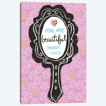 You Are Beautiful Canvas Print #VYO87} by Vicky Yorke Canvas Art