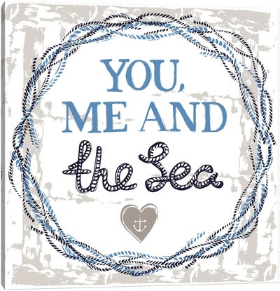 You, Me, And The Sea Canvas Art Print
