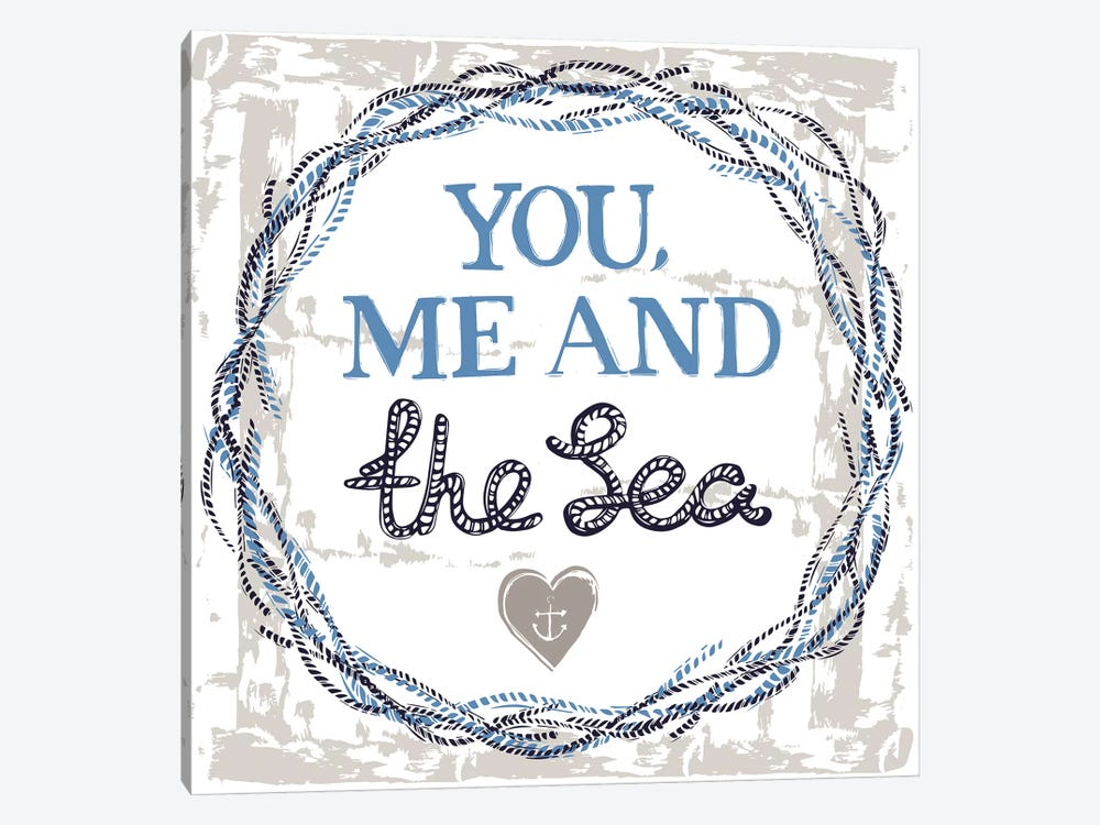 You, Me, And The Sea by Vicky Yorke 1-piece Canvas Wall Art