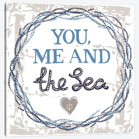 You, Me, And The Sea Canvas Print #VYO88} by Vicky Yorke Canvas Art Print