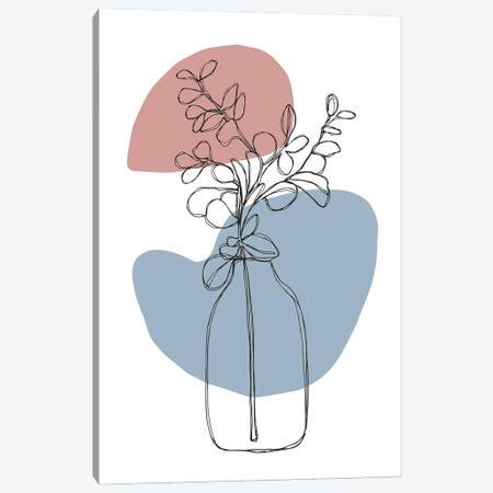 Floral Outline I Canvas Print #VYO92} by Vicky Yorke Canvas Artwork