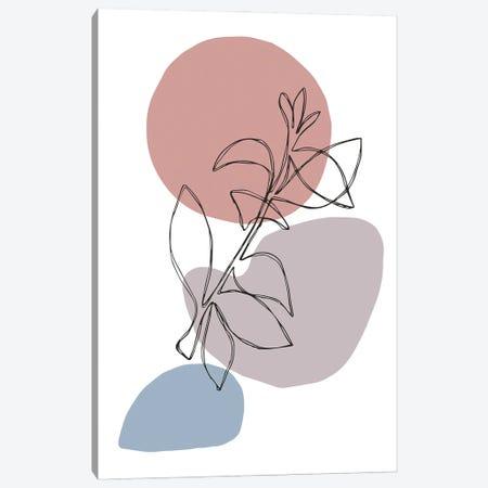 Floral Outline V Canvas Print #VYO96} by Vicky Yorke Canvas Art Print