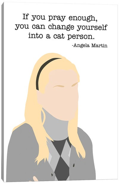 Change Yourself Into A Cat Person - The Office Canvas Art Print