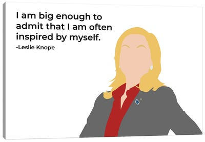 Inspired By Myself - Parks And Rec Canvas Art Print