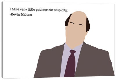 Little Patience For Stupidity - The Office Canvas Art Print