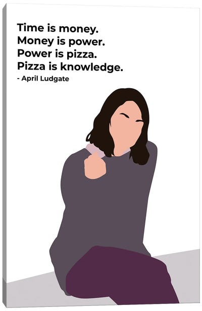 Power Is Pizza - Parks And Rec Canvas Art Print