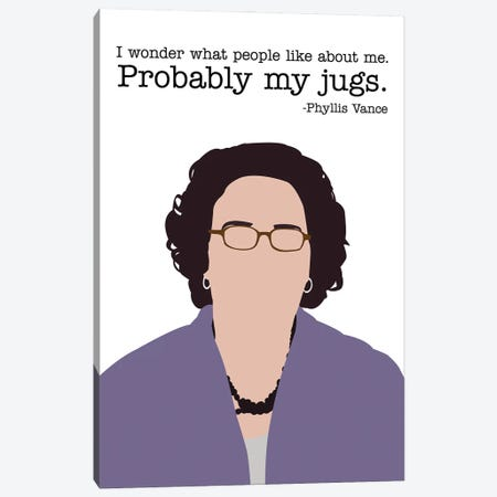 Probably My Jugs - The Office Canvas Print #VYW25} by Very Nice Words Canvas Wall Art