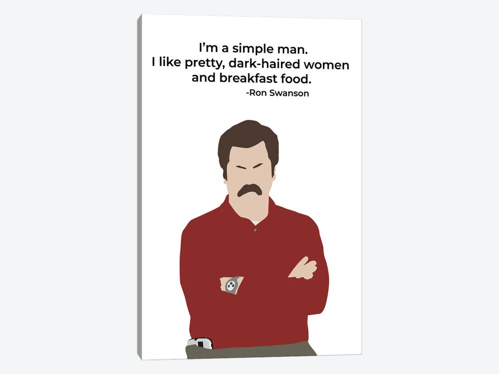 Simple Man - Parks And Rec by Very Nice Words 1-piece Art Print