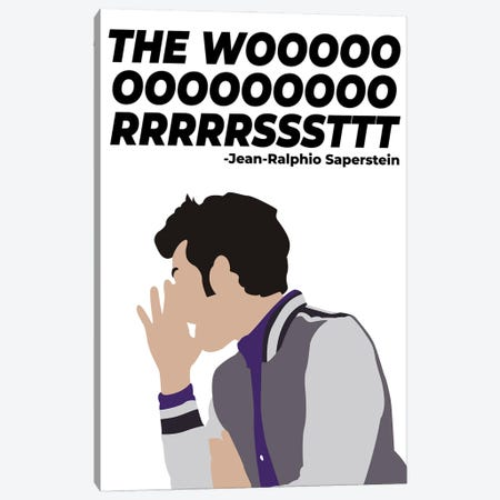 The Worst - Parks And Rec Canvas Print #VYW33} by Very Nice Words Canvas Wall Art