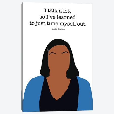 Tune Myself Out - The Office Canvas Print #VYW36} by Very Nice Words Canvas Print