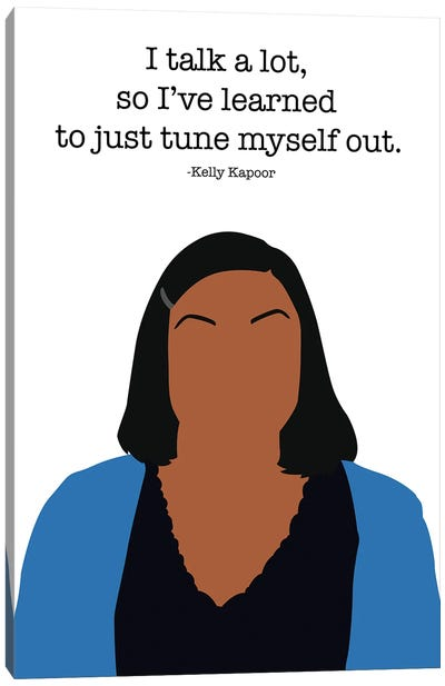Tune Myself Out - The Office Canvas Art Print