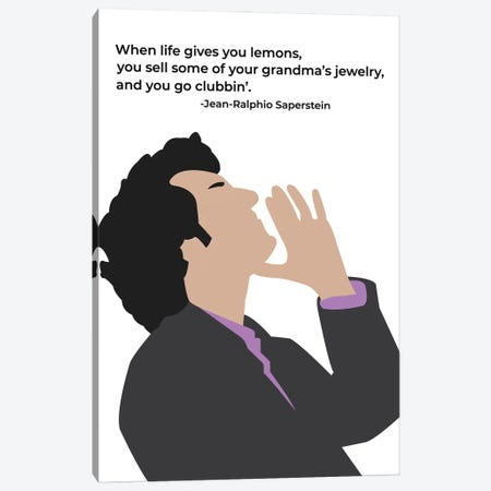 When Life Gives You Lemons - Parks And Rec Canvas Print #VYW37} by Very Nice Words Art Print